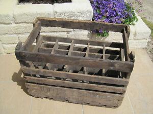 ancien casier caisse bois huile lesieur 15 bouteilles wooden bottle rack old box ebay. Black Bedroom Furniture Sets. Home Design Ideas