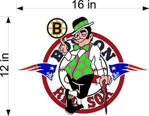 Boston Sports Fan BOSOXPAT Vinyl Vehicle Decal Graphics - Custom vinyl decals boston