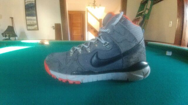 online store 6e507 286a1 Nike Dunk High R/R Poler Wolf Gray 806335-008 Men's Sneakers Sz 10.5