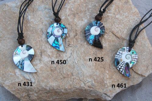 Großhandel Schmuck Halskette Muschel Nautilus Form Kette ethno 5 bis 20 Stück