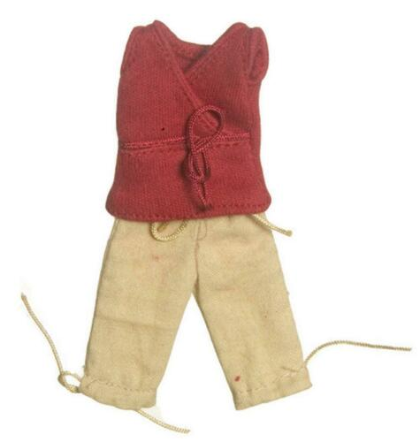 Melody Jane Dolls House Lady/'s Outfit Red Top /& Crop Pants Miniature Clothing