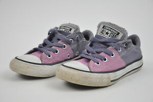 Details about Girls CONVERSE ALL STAR Purple LILAC Lavender Sz 12 Chucks Junior 651749 Textile