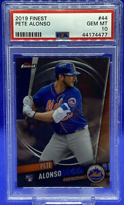 2019 Topps Finest Pete Alonso PSA 10 Gem Mint Rookie Card #44 RC Mets 🔥🔥📈📈