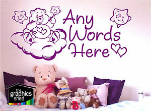 care bears sweet dreams wall art sticker decal nursery girls baby