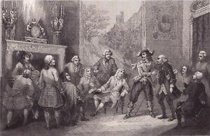 Gravure-XIXe-Jacques-Cassard-Rene-DugayTrouin-Cardinal-de-Fleury-Corsaire-1848