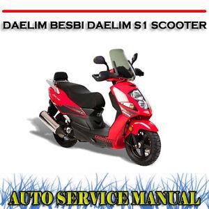 Daelim besbi daelim s1 scooter workshop service repair manual.
