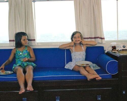 Caroline Kennedy and Maria Shriver aboard Honey Fitz boat 1963 New 8x10 Photo