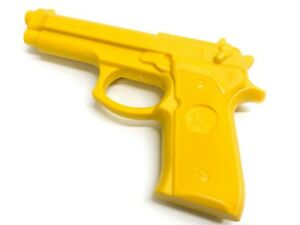 Yellow Rubber Training Pistol Practice Gun Trainer Built In Tip Costume Premium