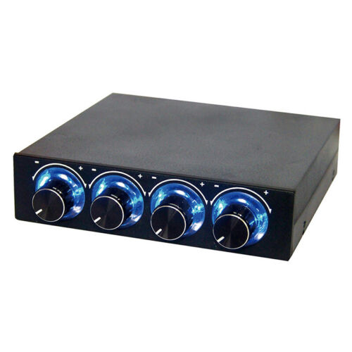 4 Channel Computer CPU Fan Speed Controller LED Temperature Regulator for PC BI