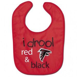 the latest 4fe50 e6ac4 Details about Atlanta Falcons I drool NFL Baby Feeding Bib Infant Toddler  Newborn Baby Shower