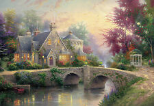 "CHOIS WM4091 Landscape Wall Murals Bridge River Wallpaper Stickers 100"" x 145"""