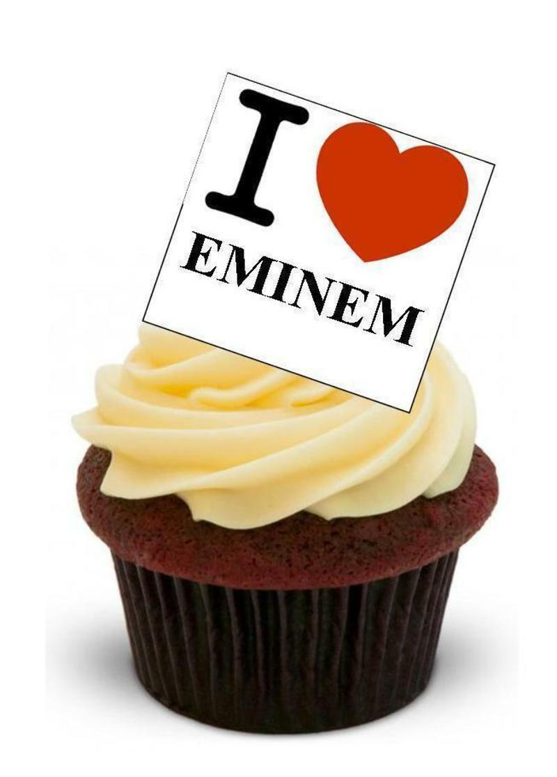 Novelty I Love Eminem Stand up Edible Cake Toppers Birthday Rapper ...
