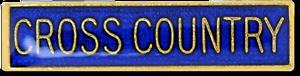 Cross Country Bar Pin Badge in Blue Enamel