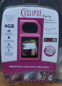 Eclipse-Replay-4gb-Digital-Picture-Frame-Keychain-MP3-Player-PINK-COLOR-NEW