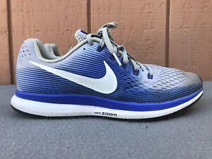 Details about Nike Air Zoom Pegasus 34 Men US 10 Training Running Shoe Grey Blue 880555-007 C6