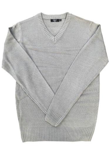 Da Uomo Felpa Maglieria Pullover Maglione Pullover Collo V Maglia a maniche lunghe nuova con etichetta