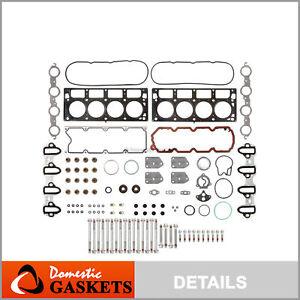 04-09 Chevrolet GMC Buick Cadillac 5.3L 4.8L OHV Head Gasket Head Bolts Set