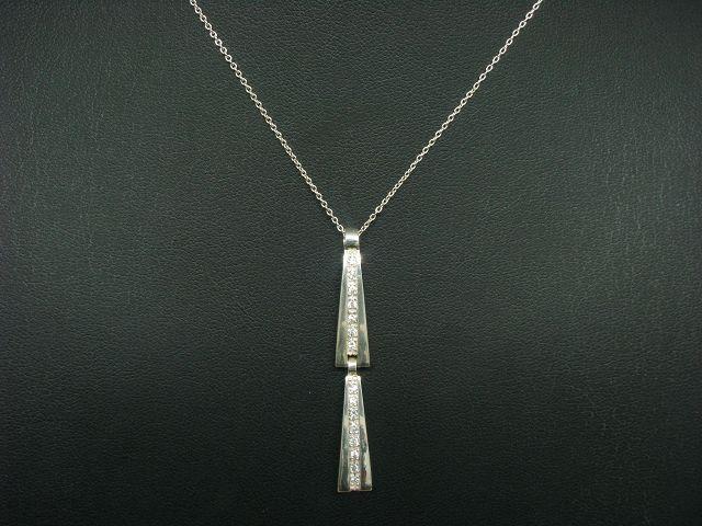 925 Sterling silver Kette & Anhänger mit Zirkonia Besatz   48,0cm   7,5g