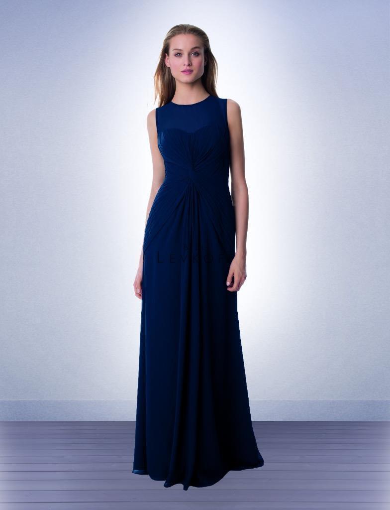 Bill Levkoff Bridesmaid Dress 997 Prom Wedding Long Gown Sleeveless Chiffon Maxi