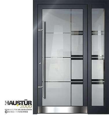Aluminium Haustür Glas Tür Alu Haustüren nach Maß Mod. HT 5502 SF GLA nach Maß