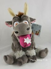 "Disney Store Exclusive Frozen Sven 14"" Holiday Plush Toy Doll Snowflake Tongue"