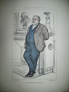 FRANCISQUE-SARCEY-JOURNALISTE-CRITIQUE-PORTRAIT-LITHOGRAPHIE-PAR-RENOUARD-1887