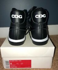 item 8 Nike Comme des Garcons CDG Leather Black Blazer High Size 8 Brand  New Authentic -Nike Comme des Garcons CDG Leather Black Blazer High Size 8  Brand ...