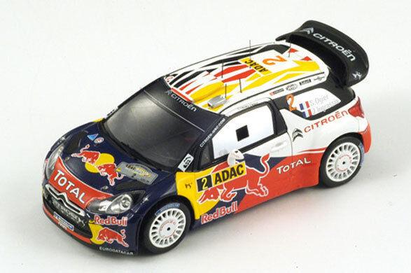 SPARK Citroen DS3 WRC No.2 Winner Allemand Rally 2011 Ogier Ingrassia S3322 1 43
