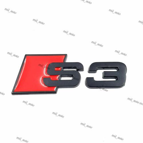 Nouvelle Audi S3 Arrière Noir Matt badge logo aile coffre Autocollant Adhésif Emblème