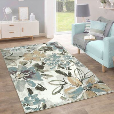 Floral Rugs For Living Room.Floral Rug Grey Mustard White Teal Modern Living Room Rug Carpet Mat Small Large Ebay