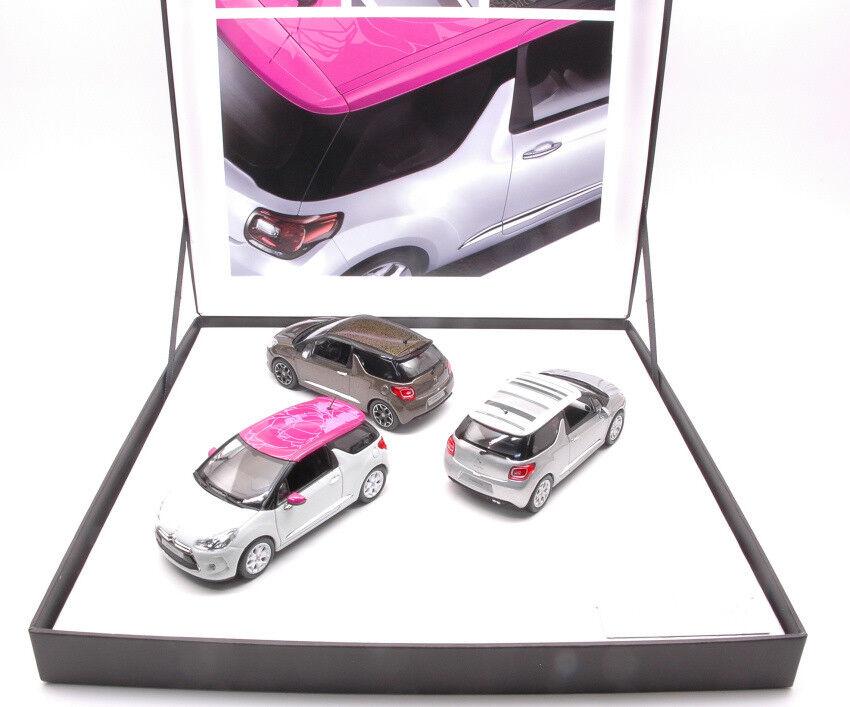 Coffret 3 Citroen Ds3 2012 Limited Edition 700 pcs  1 43 Model 155286 NOREV  jusqu'à 60% de réduction