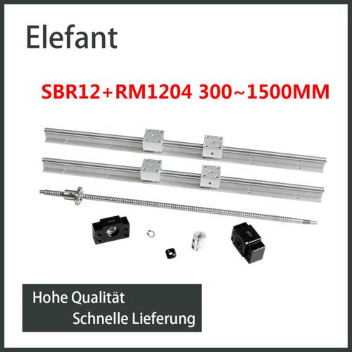 SFU//RM1204 Kugelumlaufspindel 300mm-1500mm Schleifen CNC SBR12 Linearschiene