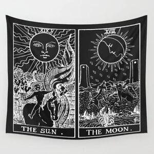 Cartas Tarot el sol y la Luna Tapiz Colgante De Pared Arte Hogar Decoraciones De Manta