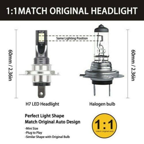 2pcs H7 LED Light Headlight Conversion 110W//30000LM//6000K Error Free Canbus Bulb