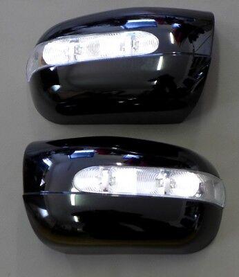 DiplomáTico Für Mercedes W210 Spiegelkappen + Led Blinker Schwarz Fresco En Verano Y CáLido En Invierno