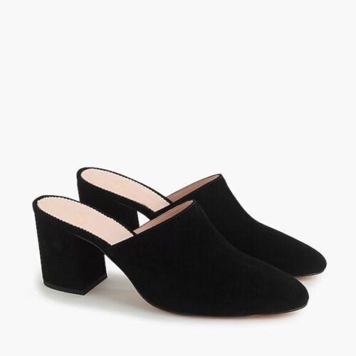 J. Crew Women's Size 7.5 Black Block Heel Suede Mu