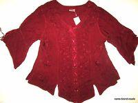 Holy Clothing Womens Plus 3x Burgundy Boho Gypsy Gothic Romantic Renaissance