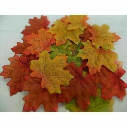300 X Künstlich Herbst Ahorn Blätter Gemischt Farbig Blatt Heim Party Dekor 8cm