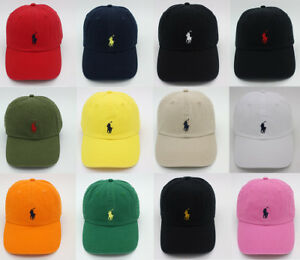 RL-Polo-Men-Classic-Embroidered-Pony-Cotton-Chino-Baseball-Cap-Adjustable-Hat-US