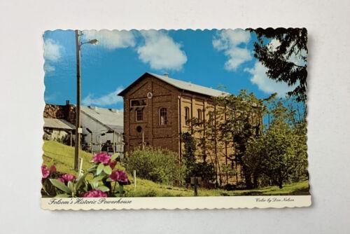 Folsom's Historic Powerhouse California Postcard Dexter Press Scalloped Edge