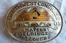 FRONTIER NORTHWEST CONGRESS  SHOW Cowboy Western Trophy  Belt Buckle 2005