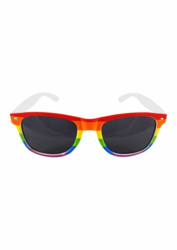 Rainbow Dark Glasses Gay Pride Carnival Sunglasses Adult Size Fancy Dress.