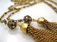 La Vie Parisienne Gold Gold Double Tassel Crystal Necklace Shade 1343g