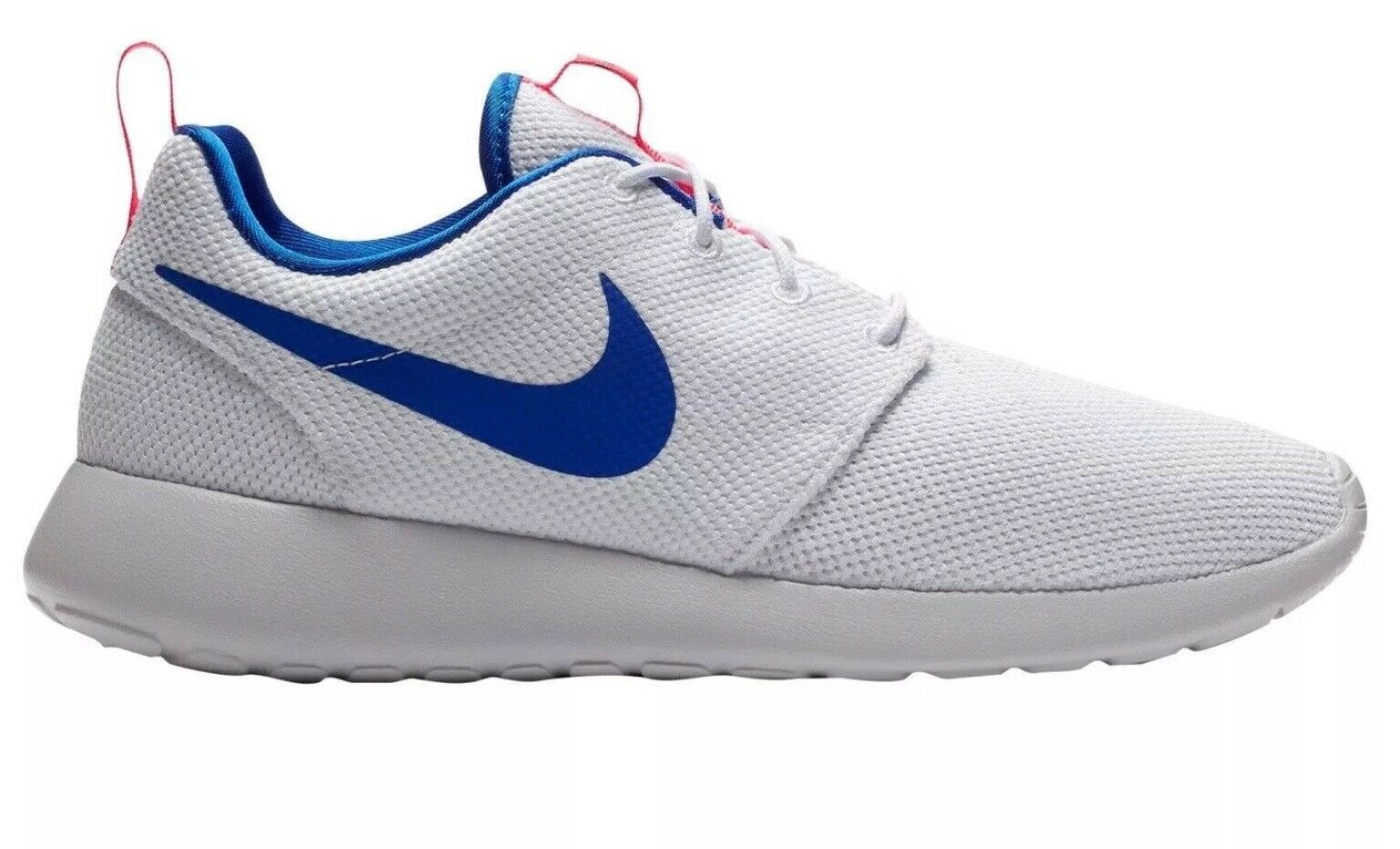 Nike Roshe Run One 511881 100 White   bluee   Ultramarine Red Size 8.5  NIB