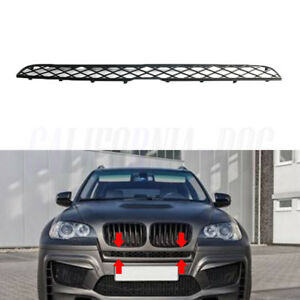 Front-Upper-Bumper-Central-Top-Black-Mesh-Grille-For-BMW-X5-E70-X6-E71-2007-2014