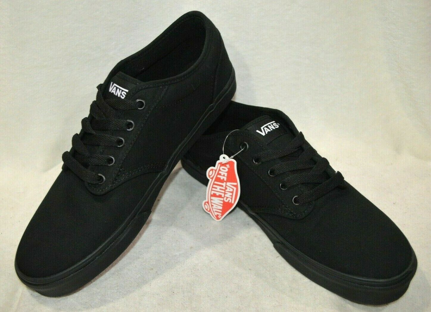VANS ATWOOD CANVAS TRAINERS Black  eBay