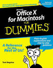 Microsoft Office V.10 for Macs For Dummies by Tom Negrino (Paperback, 2002)
