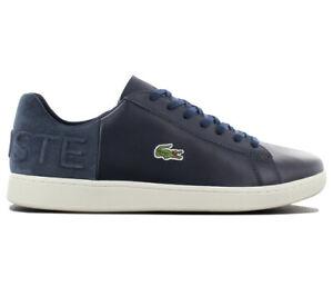 Lacoste-Carnaby-Evo-418-Herren-Sneaker-7-36SPM0015B98-Blau-Leder-Schuhe-Freizeit