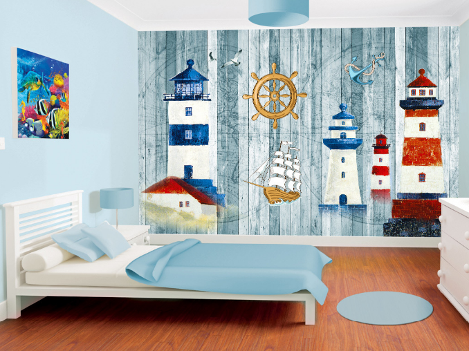 3D Towers Steering Wheel Paper Wall Print Wall Decal Wall Deco Indoor Murals