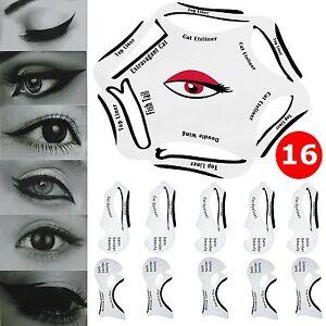 In Quick Eyeliner Stencil Cat Eyeshadow Guide Smokey Makeup - Eyeshadow template